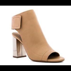 Vince Faye Open toe leather booties